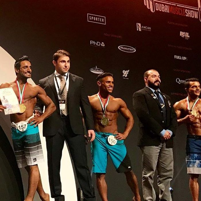 Congratulations to the Top 6 winners of Men's Physique 170cm