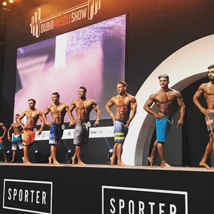 Men's Physique 170cm semifinals